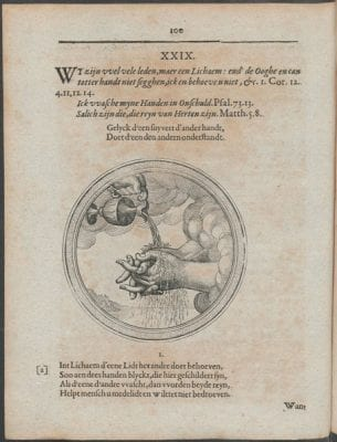 Pictura XXIX in Bartholomeus Hulsius, Emblemata s, Courtesy of Utrecht University Library