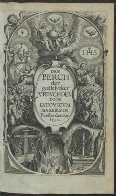 Title page from Lodewijk Makeblijde, Den berch d, 1618, Courtesy of Utrecht University Library