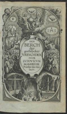 Title page from Lodewijk Makeblijde,Den berch d, 1618, Courtesy of Utrecht University Library