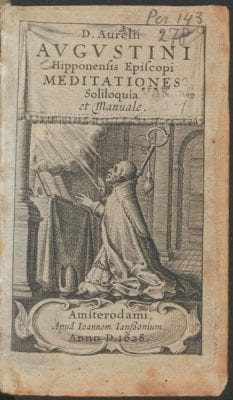 Title page from Aurelius Augustinus, Meditationes, 1628, Courtesy of Utrecht University Library