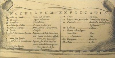 Detail of key from Caspar Barlaeus,Rerum per oc,