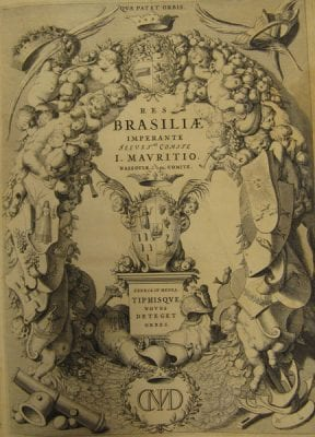 Res Brasiliae(title page) from Caspar Barlaeus, James Ford Bell Library, University of Minnesota