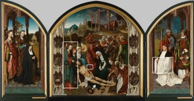 Cornelis Engebrechtsz,  Triptych with the Lamentation of Christ, Illustr, ca. 1508, Stedelijk Museum de Lakenhal, Leiden