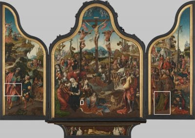 Cornelis Engebrechtsz,  Triptych with the Crucifixion of Christ, Illustr, ca. 1515–18, Stedelijk Museum de Lakenhal, Leiden