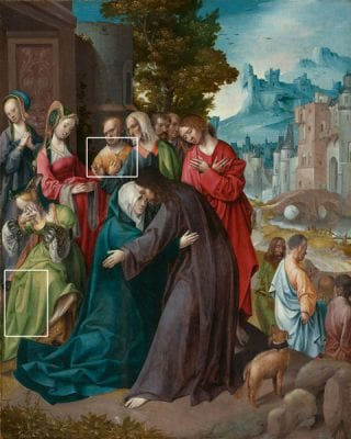 Cornelis Engebrechtsz,  Christ Taking Leave of His Mother, Illustrated , ca. 1515–20, Rijksmuseum, Amsterdam