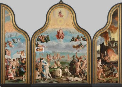 Lucas van Leyden,  Last Judgment (recto), Illustrated details are,  ca.1526–27,  Stedelijk Museum de Lakenhal, Leiden