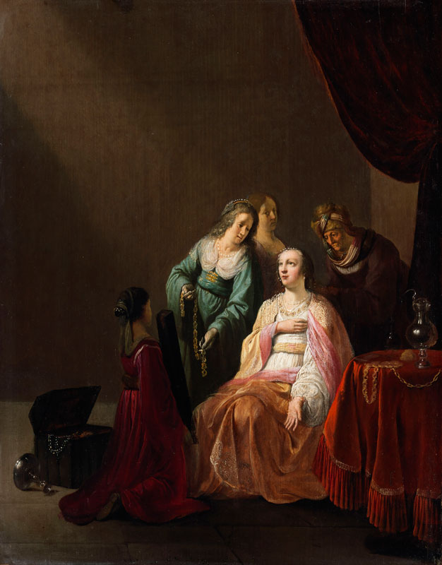 Willem de Poorter,  The Robing of Esther,  mid-1640s,  National Gallery of Ireland, Dublin