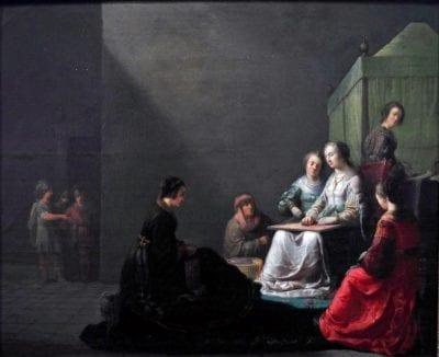 Willem de Poorter, Tarquinius Finding Lucretia at Work, 1633,  Musée des Augustins, Toulouse