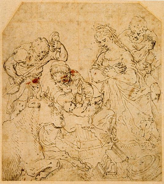 Joachim Beuckelaer, Adoration of the Shepherds,  Teylers Museum, Haarlem (collection Matthijs de Clercq)
