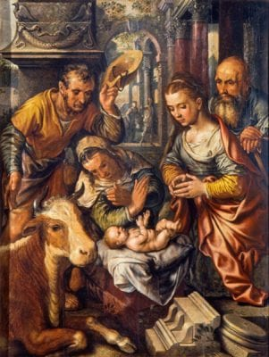 Joachim Beuckelaer, Adoration of the Shepherds, dated 1565, Church of St. Ursula, Cologne