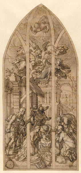 Joachim Beuckelaer, Adoration of the Shepherds, dated 1563,  Hamburger Kunsthalle, Hamburg