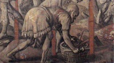 Joachim Beuckelaer,  left half of aCrucifixionwith the two thieves, monogrammed and dated 1567,  Musée du Louvre, Département des Art Graphiques, Paris