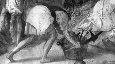 Joachim Beuckelaer, Crucifixion, Paris (fig. 18). IRR digital compos, monogrammed and dated 1567,  Musée du Louvre, Département des Art Graphiques, Paris