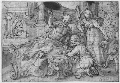 Joachim Beuckelaer, Isaac Blessing Jacob, dated 1561,  Herzog Anton Ulrich-Museum, Braunschweig