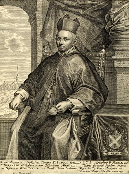 Conrad Wauman, after Frans Denys, Jodocus Gilles, Abbot of the Antwerp Abbey of Sa,  Koninklijke Bibliotheek van België, Albertina, Brussels