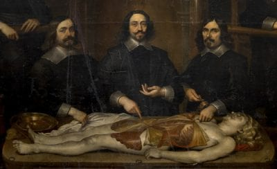 Frans Denys, detail fromThe Anatomy Lesson of Dr. Joannes va, 1648, Koninklijk Museum voor Schone Kunsten, Antwerp