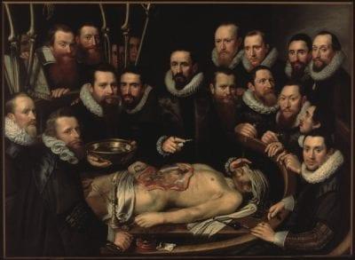 Michiel van Mierevelt, The Anatomy Lesson of Dr. Willem van der Meer, 1617, Stedelijk Museum Het Prinsenhof, Delft