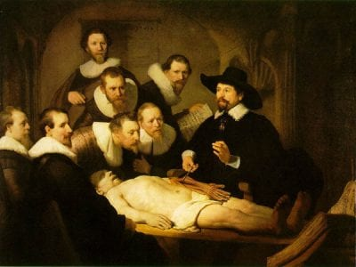 Rembrandt,  Anatomy Lesson of Dr. Nicolaes Tulp, 1632, Mauritshuis, The Hague