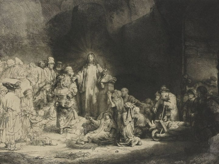 Rembrandt van Rijn,  The 100 Guilder Print (Christ Healing the Sick), ca. 1648,