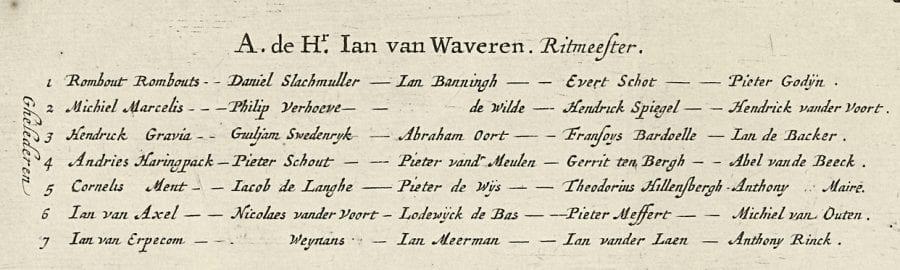 Salomon Saverij, Detail of fig. 4., Cavalcade Greeting the Entry i, 1660, Amsterdam, Rijksprentenkabinet