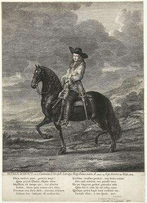 Abraham Blooteling, after Thomas de Keyser, Equestrian Portrait of Pieter Schout, 3rdstate , Amsterdam, Rijksprentenkabinet