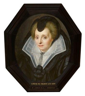 Studio of Michiel van Miereveld, Portrait of Louise de Coligny, The Hague, Mauritshuis