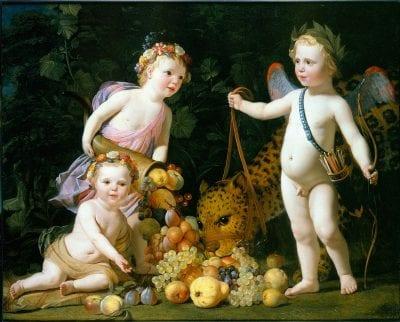 Gerard van Honthorst, Prince Willem II and His sisters and a Leopard (A, 1629, Apeldoorn, Paleis Het Loo
