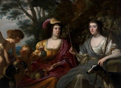 Gerard van Honthorst, Amalia van Solms and Charlotte de la Trémoïlle, 1633, Apeldoorn, Paleis Het Loo