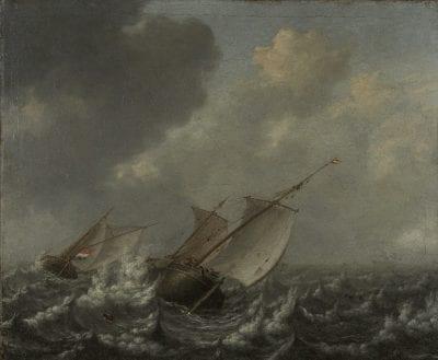 Jan Porcellis, Vessels on a Choppy Sea, ca. 1620, New Haven, Conn., Yale University Art Gallery