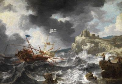 Bonaventura Peeters, Shipwreck, ca. 1652, Private collection