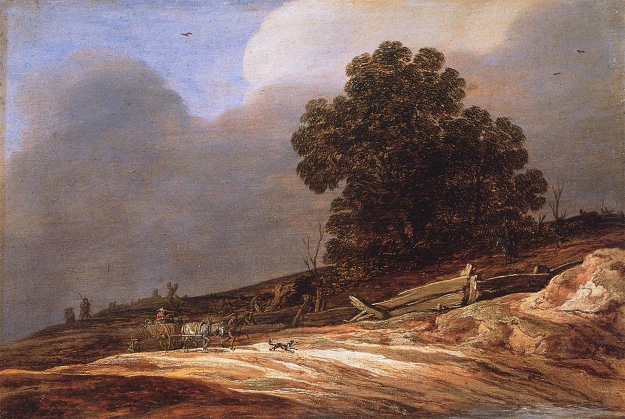 Pieter De Molijn, Landscape With Dunes And A Sandy Road, 1626, Braunschweig,