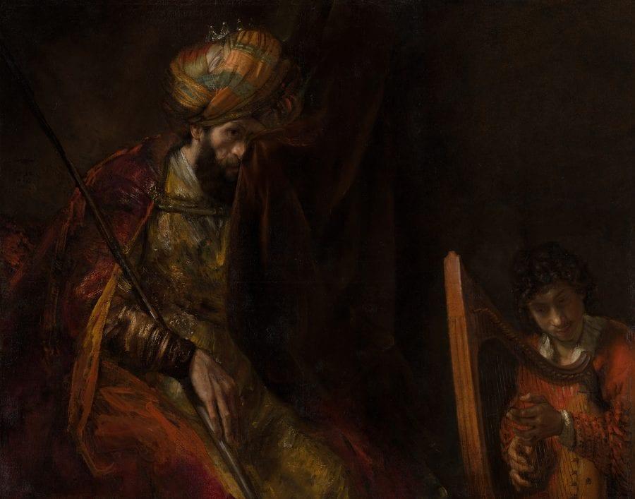 Rembrandt van Rijn, Saul and David, ca. 1651–54 and ca. 1655–58, The Hague, Mauritshuis
