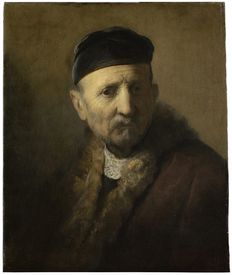 Rembrandt van Rijn and/or studio of the artist, Tronie of an Old Man, ca. 1630–31, The Hague, Mauritshuis
