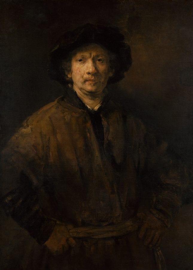 Rembrandt, Large Self-Portrait, 1652, Vienna, Kunsthistorisches Museum, Gemäldegalerie