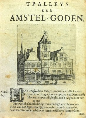 Anonymous engraver, after Claes Jansz. Visscher, View of the old Town Hall, in Jan Krul,'T Palley, 1636,
