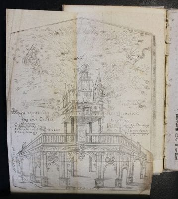 Arcus triumphalis Namurencensium, engraving in Nar, Paris, Centre Sèvres