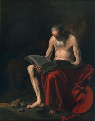Caravaggesque Painter, Saint Jerome, ca. 1615–25, Private collection