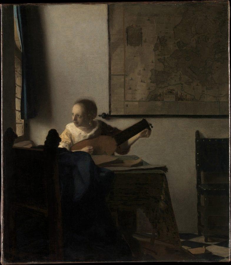 Johannes Vermeer, A Woman with a Lute, ca. 1662–64, New York, Metropolitan Museum of Art