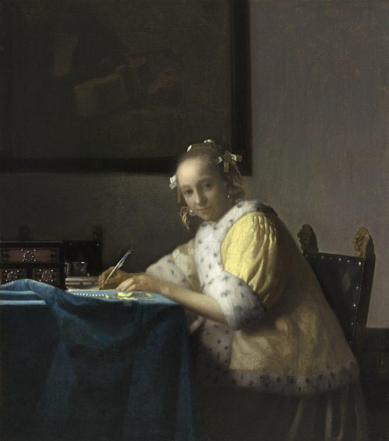 Johannes Vermeer, A Lady Writing, ca. 1665–66, Washington, D.C., National Gallery of Art