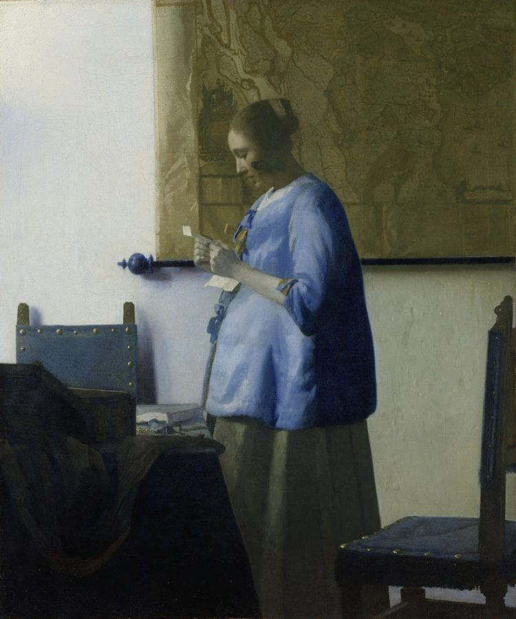 Johannes Vermeer, A Woman in Blue Reading a Letter, ca. 1662–65, Amsterdam, Rijksmuseum