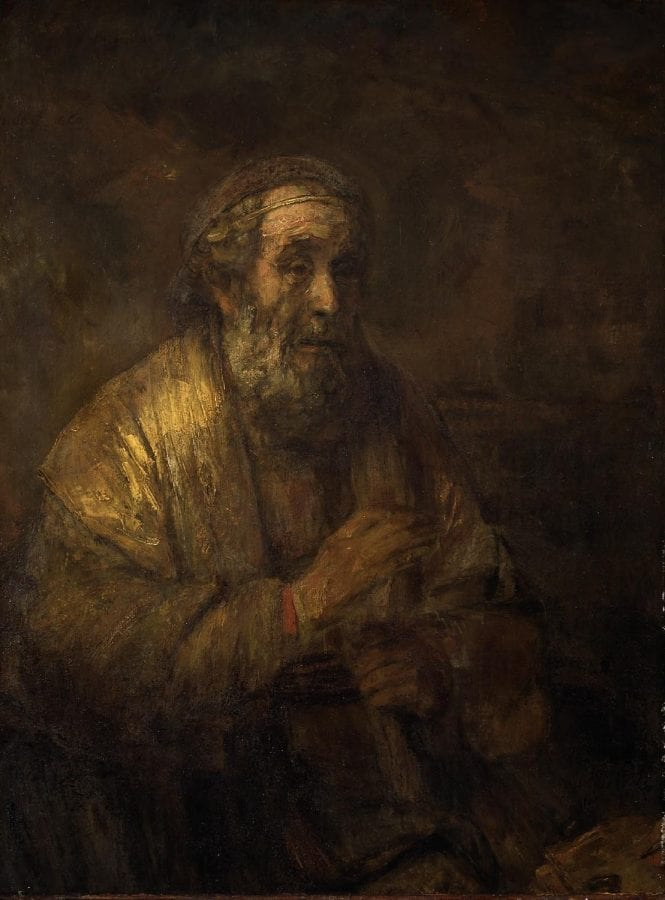 Rembrandt,  Homer Dictating His Verses, 1663, The Hague, Mauritshuis