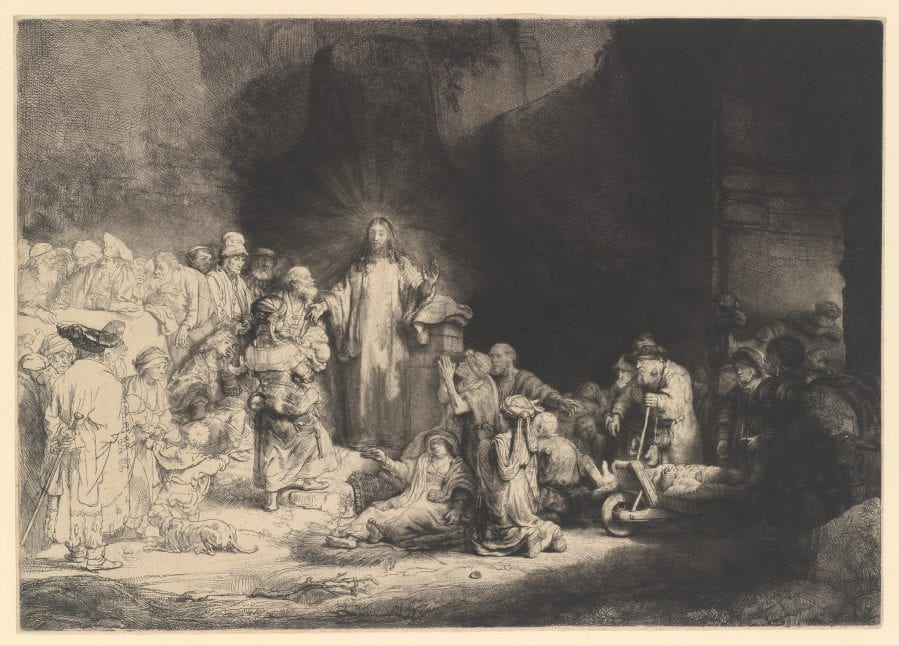 Rembrandt, Hundred Guilder Print, second state of two, ca. 1649, New York, The Metropolitan Museum of Art