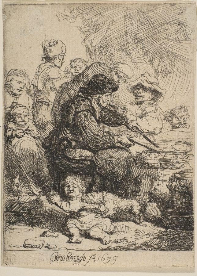 Rembrandt, Pancake Woman, 1635, New York, The Metropolitan Museum of Art