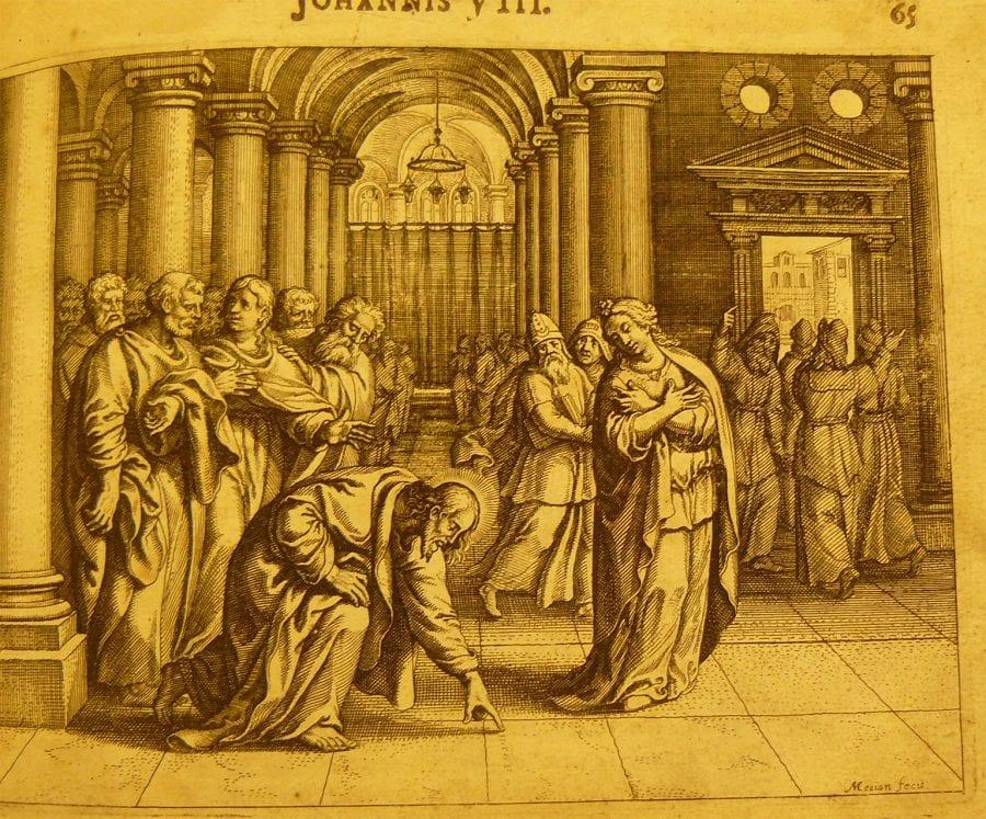 Matthäus Merian, Christ and the Adulterous Woman, 1625,