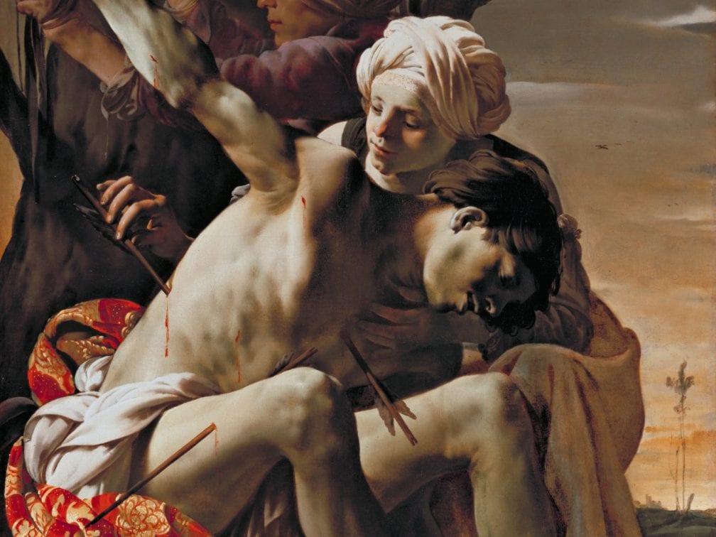 Saint Sebastian Tended by Irene*oil on canvas*149 x 119.4 cm*signed t.l: HTBrugghen fecit 1625