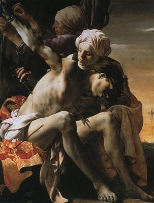 Hendrick ter Brugghen, Saint Sebastian Tended by Irene, 1625, Oberlin, Ohio, Oberlin College, Allen Memorial Art Museum