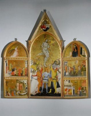 Giovanni del Biondo, Martyrdom of Saint Sebastian with Scenes from His, late 14th century, Florence, originally in the Duomo, currently in the Museo dell'Opera di S. Maria del Fiore