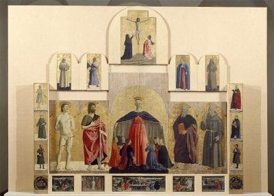 Piero della Francesca,  Polyptych of the Misericordia,  ca. 1460–62,  Sansepolcro, Italy, Pinacoteca Comunale