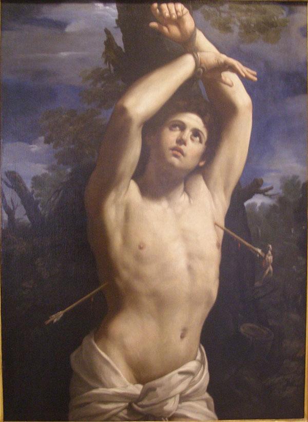 Guido Reni,  Saint Sebastian,  ca. 1615,  Genoa, Musei di Strada Nuova, Palazzo Rosso