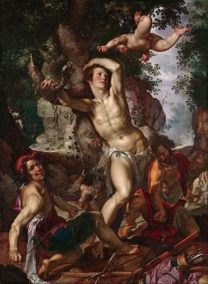 Joachim Wtewael, Saint Sebastian, 1600, Kansas City, Nelson-Atkins Museum of Art